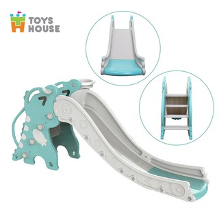 Cầu trượt cho bé hình khủng long Toyshouse - Màu xanh L-NLL01 tiêu chuẩn xuất Mỹ kích thước 190cm