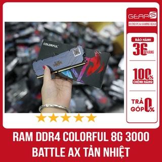 Ram DDR4 Colorful 8G Bus 3000 Battle AX Tản Nhiệt - Bảo hành chính hãng 36 Tháng thumbnail