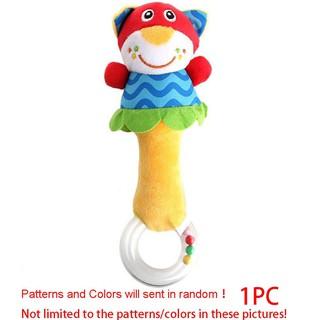 Soft Cartoon Animal Handbells Plush Rattle For Cute Newborn Baby Infant Toy Gift