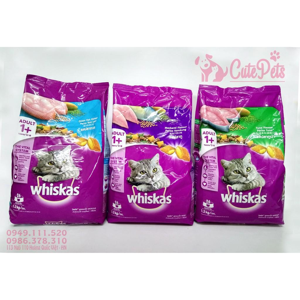 Thức Ăn Cho Mèo Lớn Whiskas Adult 1.2kg (Đủ Vị) - CutePets Phụ kiện chó mèo Pet shop Hà Nội
