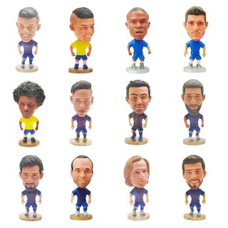 LP_2.5inch Football Star Ronaldo Messi Neymar Pogba Soccer Player Doll Figurine Toy