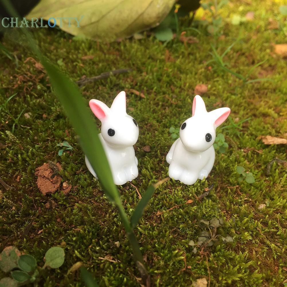 Mô hình thỏ mini trang trí đáng yêu
