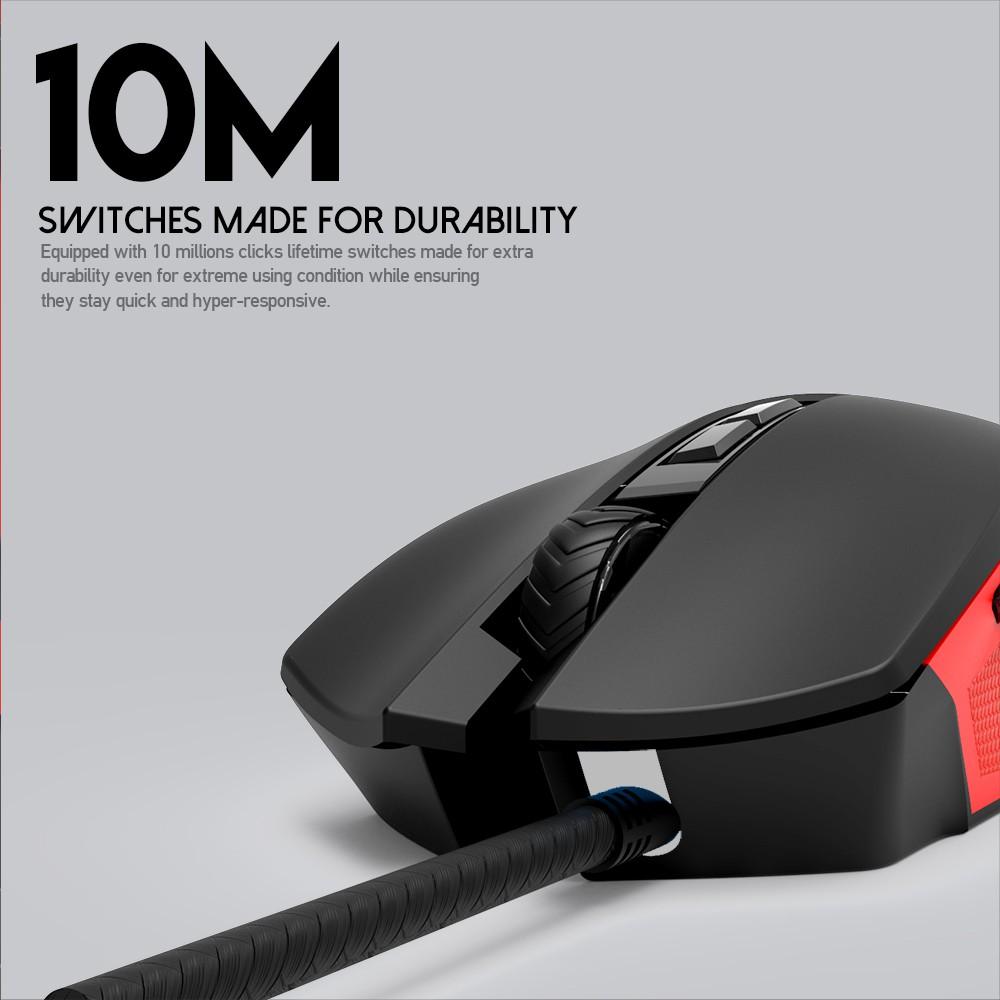Chuột Gaming Có Dây Fantech X15 PHANTOM 4800DPI LED RGB 16,8 triệu màu 7 phím Macro - Hãng Phân Phối Chính Thức