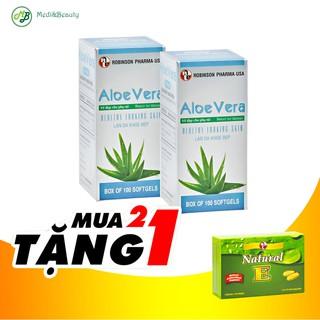 Combo[ 2 chai ] Dưỡng da, Chống lão hóa Aloe Vera - Sữa Ong Chúa tặng 1 hộp Vitamin E thiên nhiên 30 viên - MediBeauty thumbnail