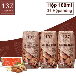 Thùng sữa Sữa Hạt HẠNH NHÂN Nguyên Chất Truyền thống – 36 hộp 180ml