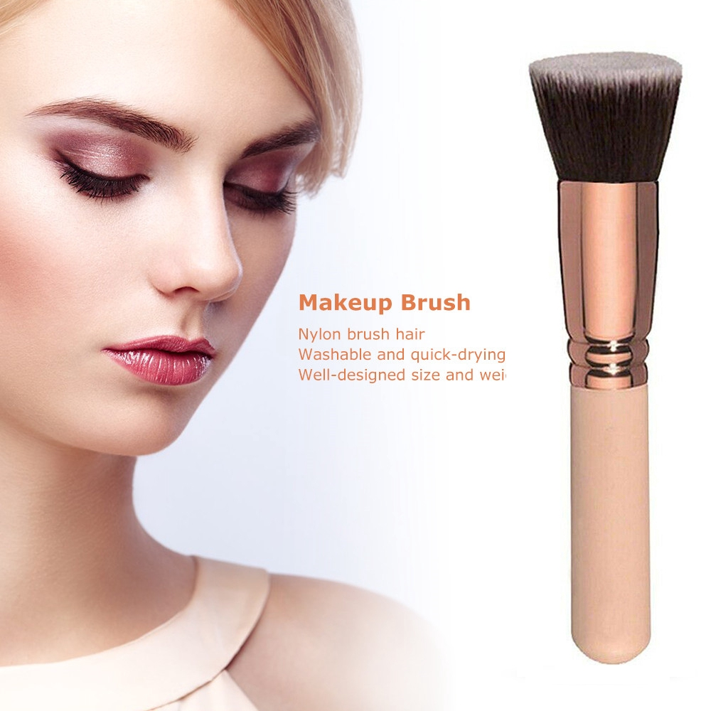 XIANSTORE 1 PC Professional Beauty Cosmetic Make Up Tools Rose gold Flat Top Foundation Brush