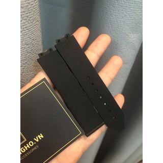 Dây đồng hồ nữ Hulot cao su đen size 34 size dây 13-19-18 hương Vani tặng kèm tovit thay dây