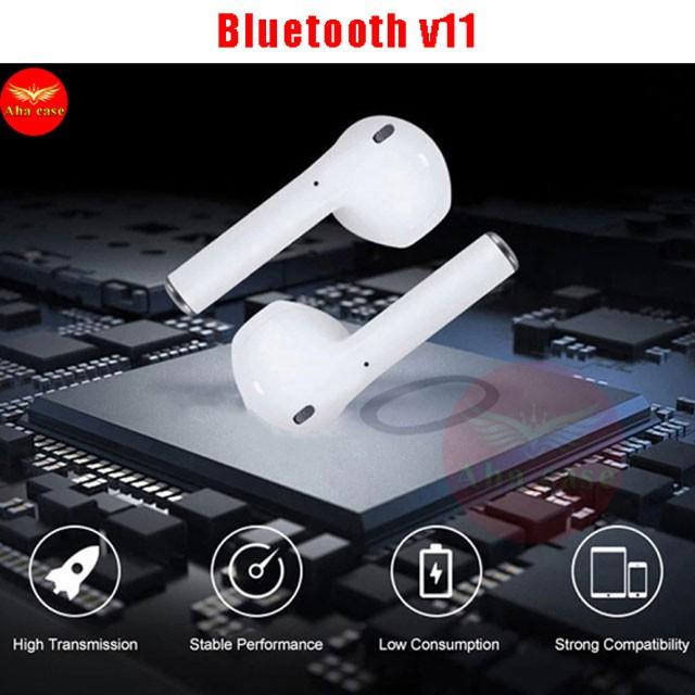 [Freeship+Giá Sỉ] Tai Nghe Bluetooth Mini V11 Tương thích Android và IOS + Tai nghe không dây Định vị, Đổi tên, Bass Ấm