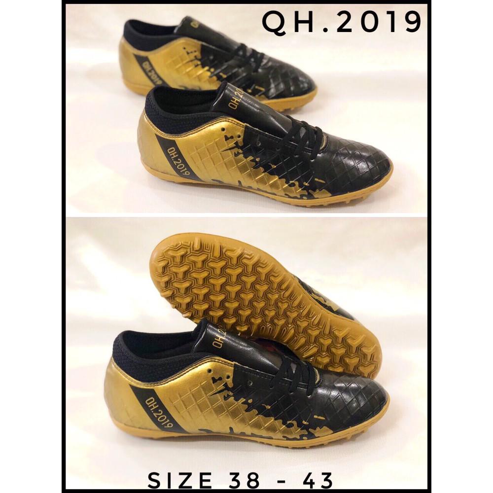 Giày đá bóng cổ thun QH2019 -sân nhân tạo - đế khâu full - y hình 100%- tặng tất chống trơn