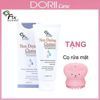 Sữa Rửa Mặt Cho Da Nhạy Cảm Fixderma Non Drying Cleanser (60g) TẶNG CỌ RỬA MẶT