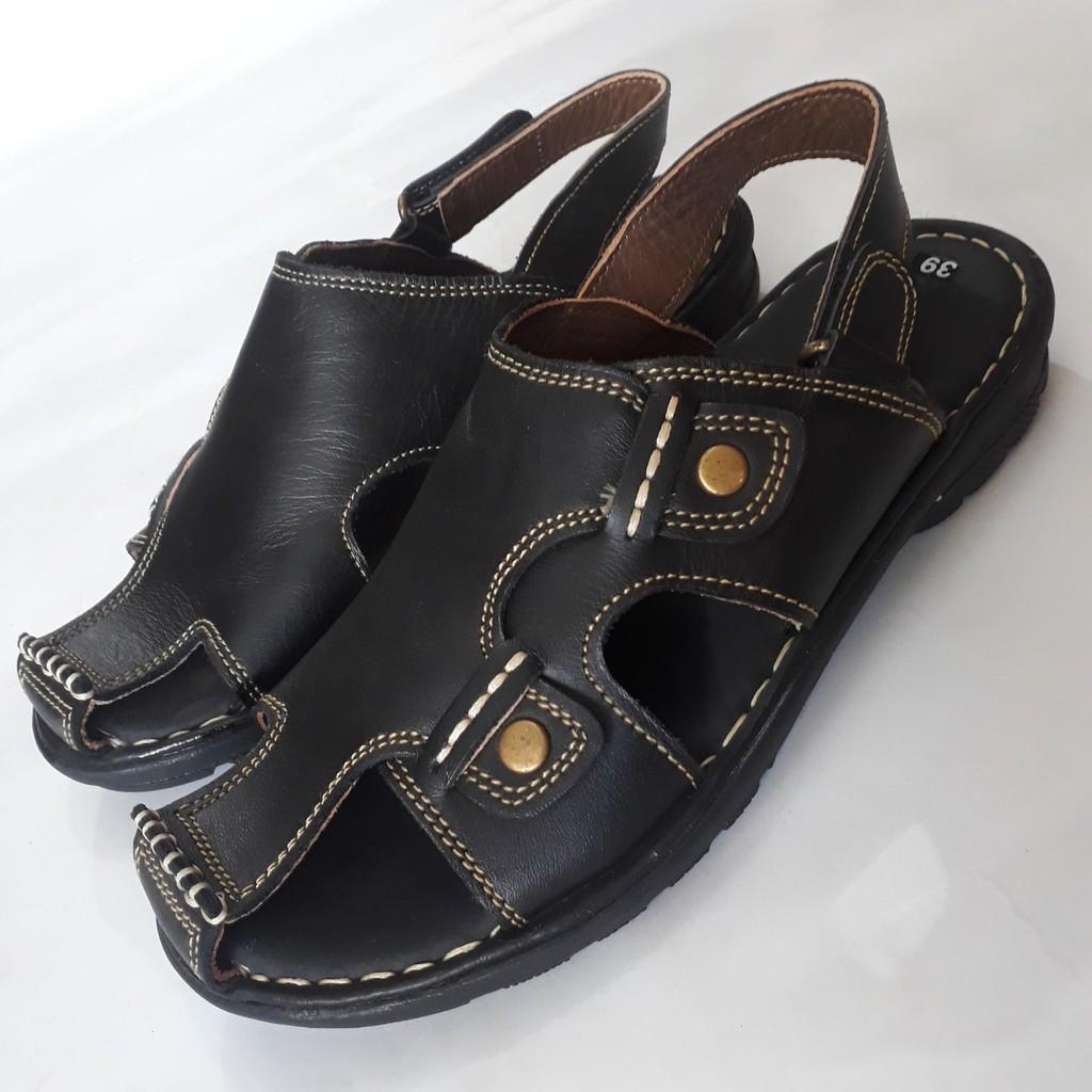 Giày SanDal Nam Bít Mũi Da Bò Thật Cao Cấp HKT Shop SD413