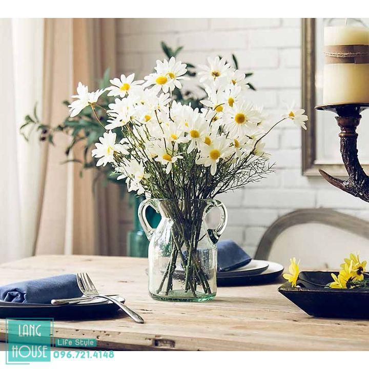 Hoa Giả - HOA CÚC HỌA MI Loại 1 Giống Thật - 1 Cành 5 Bông
