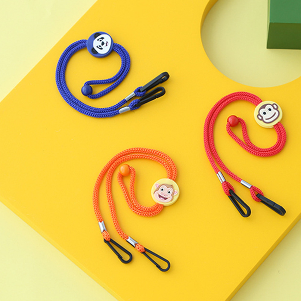MXBEAUTY Lovely Glasses Rope Students Mask Rope Mask Anti-lost Lanyard Cartoon Pattern Accessories Cute Fashion Children Eyewear Glasses Chain white/yellow/red