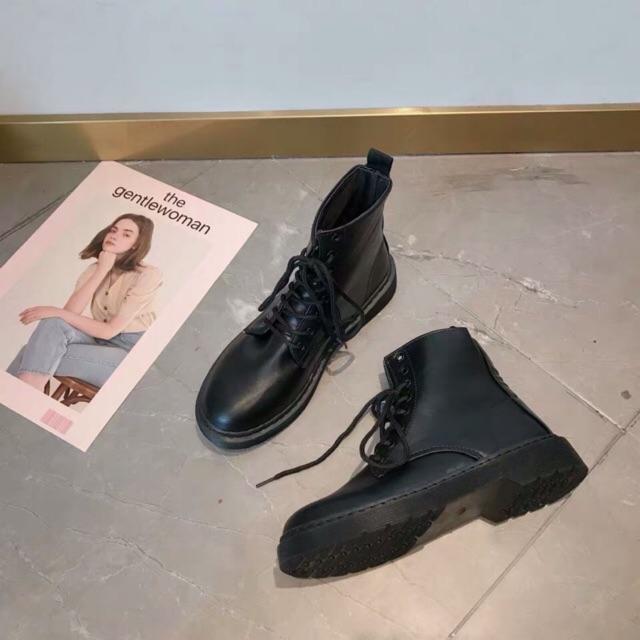 [Mã FASHIONXANH44 giảm 10% tối đa 30k đơn từ 99k] [ORDER] Giày ulzzang cao cổ da mềm (ảnh thật ở cuối)