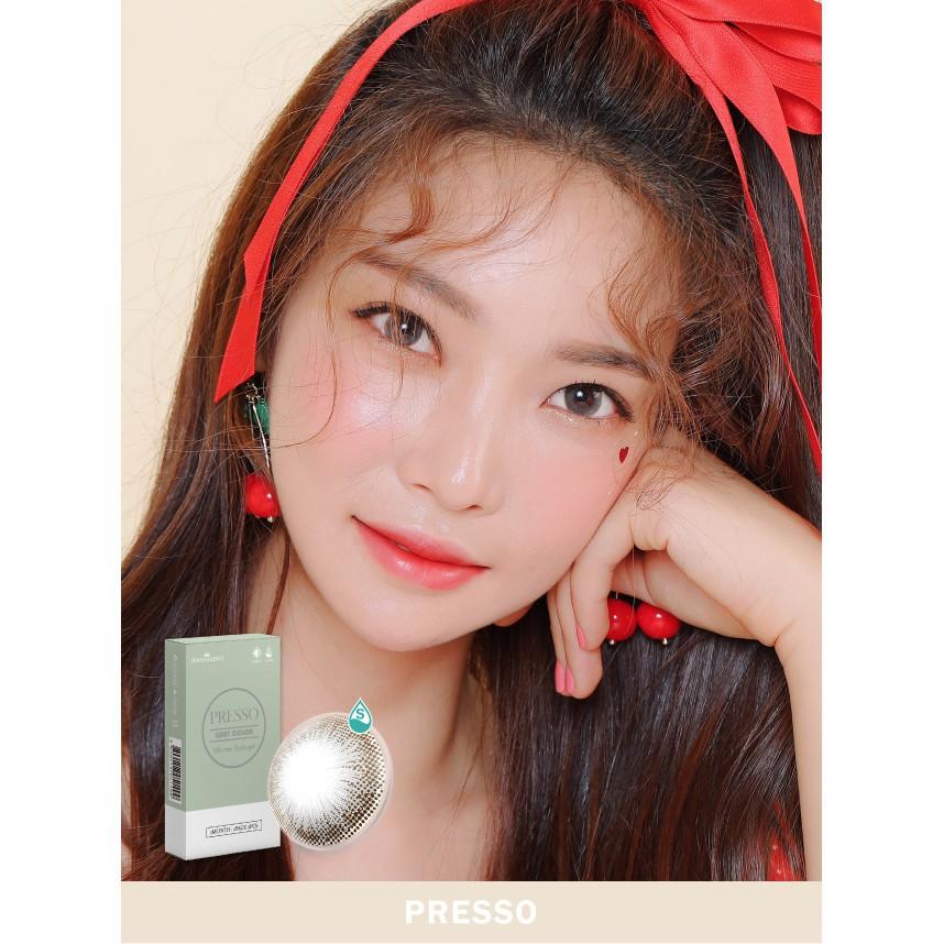 [Top bán chạy] Lens Mắt Hàn Quốc 1 Tháng Màu Xám Presso Ann Presso, Kính áp tròng dành cho mắt...