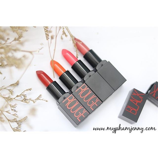 Son lì Black Rouge Diva Black Lipstick - màu 02 cam tươi