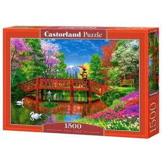 """(Có sẵn) Tranh ghép hình 1500 mảnh """"Fuji lake"""", Castorland"""