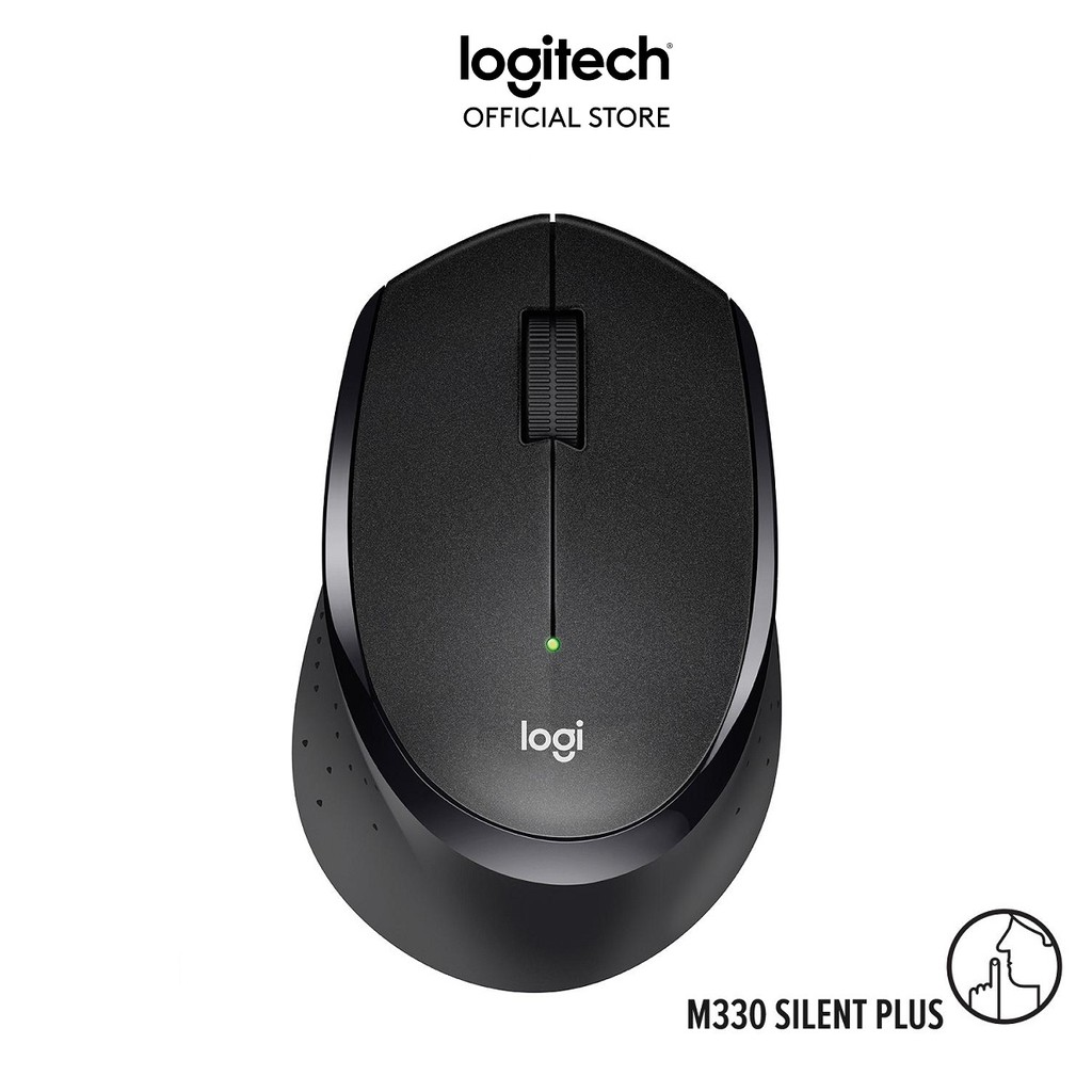 [Mã ELLOGI GIẢM 5% ĐƠN BẤT KỲ]Chuột không dây Logitech M330 Silent Plus - Không có tiếng click khi sử dụng