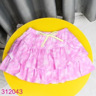 312043 Chân Váy Bé Gái Thun Tầng Loang Màu Xinh Xắn (2 – 9 tuổi)
