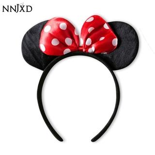 [Mã FASHIONCB44 giảm 10K đơn 0 đồng] NNJXD Băng đô tai chuột Minnie in họa tiết chấm bi dễ thương thumbnail