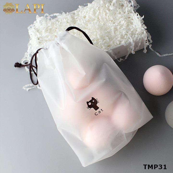 Túi dây rút đựng mỹ phẩm, đồ dùng nhỏ du lịch tiện dụng, không thấm nước hình chú mèo