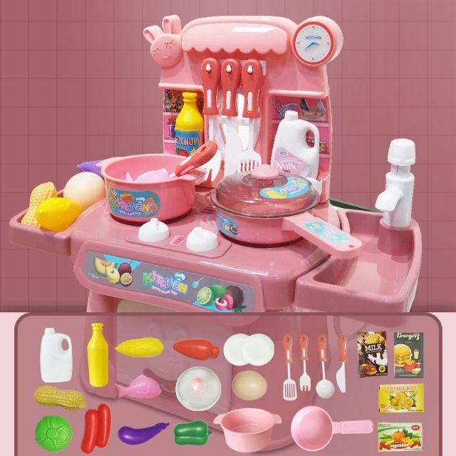 Bộ đồ chơi nấu ăn xài pin xả nước
