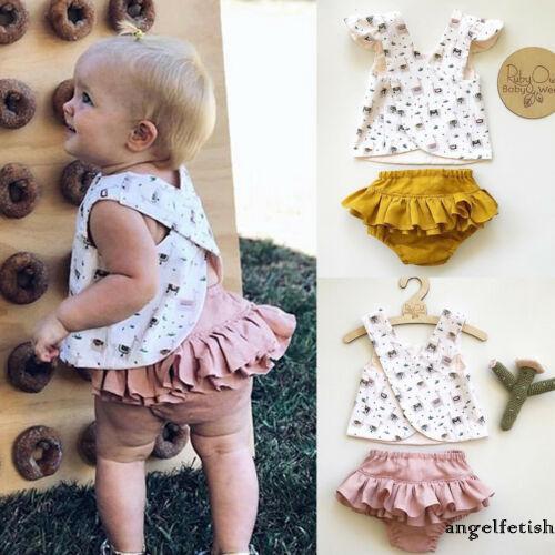 Bộ quần áo trẻ em thời trang mùa hè xinh xắn cho bé gái