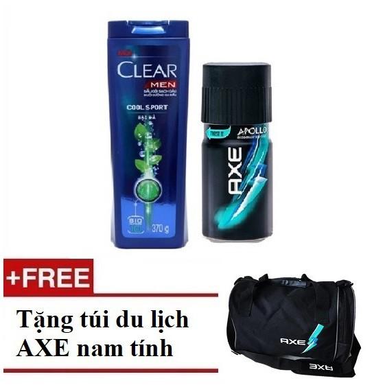 [Quà] Combo Clear Men 370g & Xịt khử mùi AXE Apollo 150ml (MSP 67042982+67228944) + Tặng 1 túi du lị - 3205947 , 599979156 , 322_599979156 , 207000 , Qua-Combo-Clear-Men-370g-Xit-khu-mui-AXE-Apollo-150ml-MSP-6704298267228944-Tang-1-tui-du-li-322_599979156 , shopee.vn , [Quà] Combo Clear Men 370g & Xịt khử mùi AXE Apollo 150ml (MSP 67042982+67228944) +
