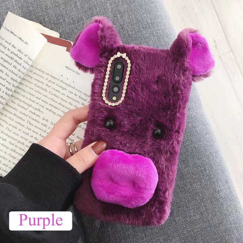 HUAWEI Y6 Pro 2019 Phone case Plush Pig soft shell