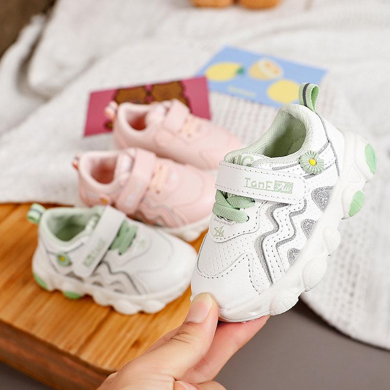 【Nghe được】Mùa xuân và mùa thu em bé giày dép mềm trái đất trẻ em học bước giày bé trai trượt trò ảo thuật dán giày cô gái PAPAYA