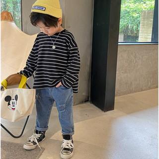 Quần áo trẻ em  👣FREESHIP👣 Áo thun kẻ Quảng Châu bé trai