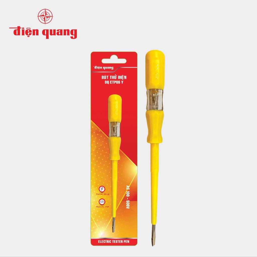 Bút thử điện Điện Quang ĐQ ETP09 Y (Đầu vít dẹp, 185 mm, màu vàng)