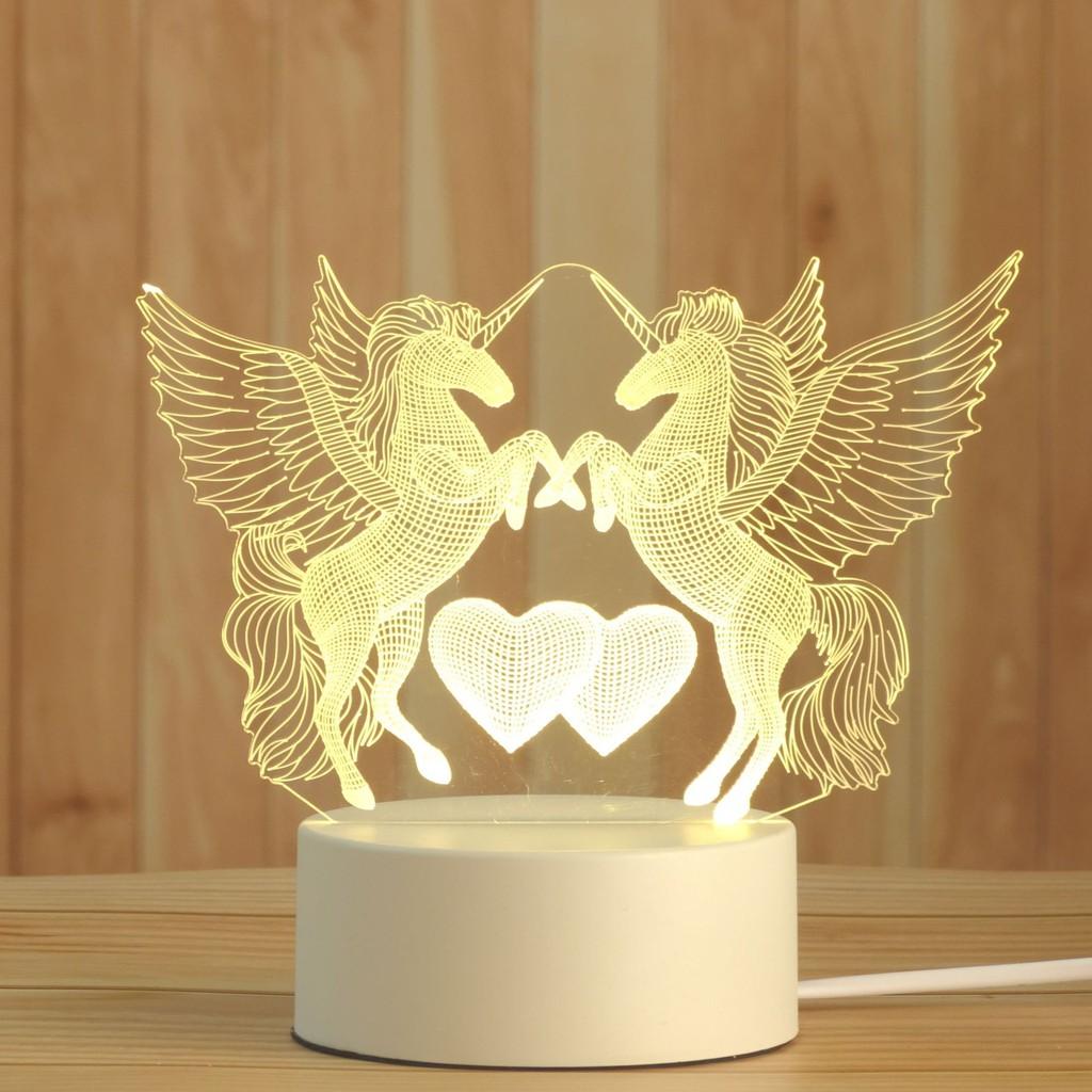 Đèn ngủ 3D led để bàn trang trí nhiều mẫu, quà tặng sinh nhật tình yêu