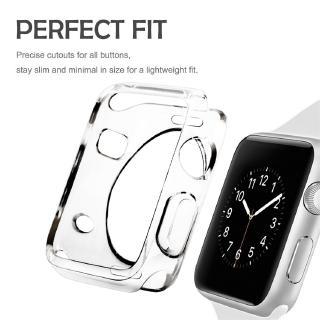 Ốp bảo vệ mặt đồng hồ bằng cao su dành cho Apple Watch Series 4 3 2 1 38MM 42MM 44MM thumbnail