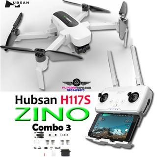 Flycam Hubsan H117S ZINO 4K UHD 3 trục chiếc gimbal có túi đựng
