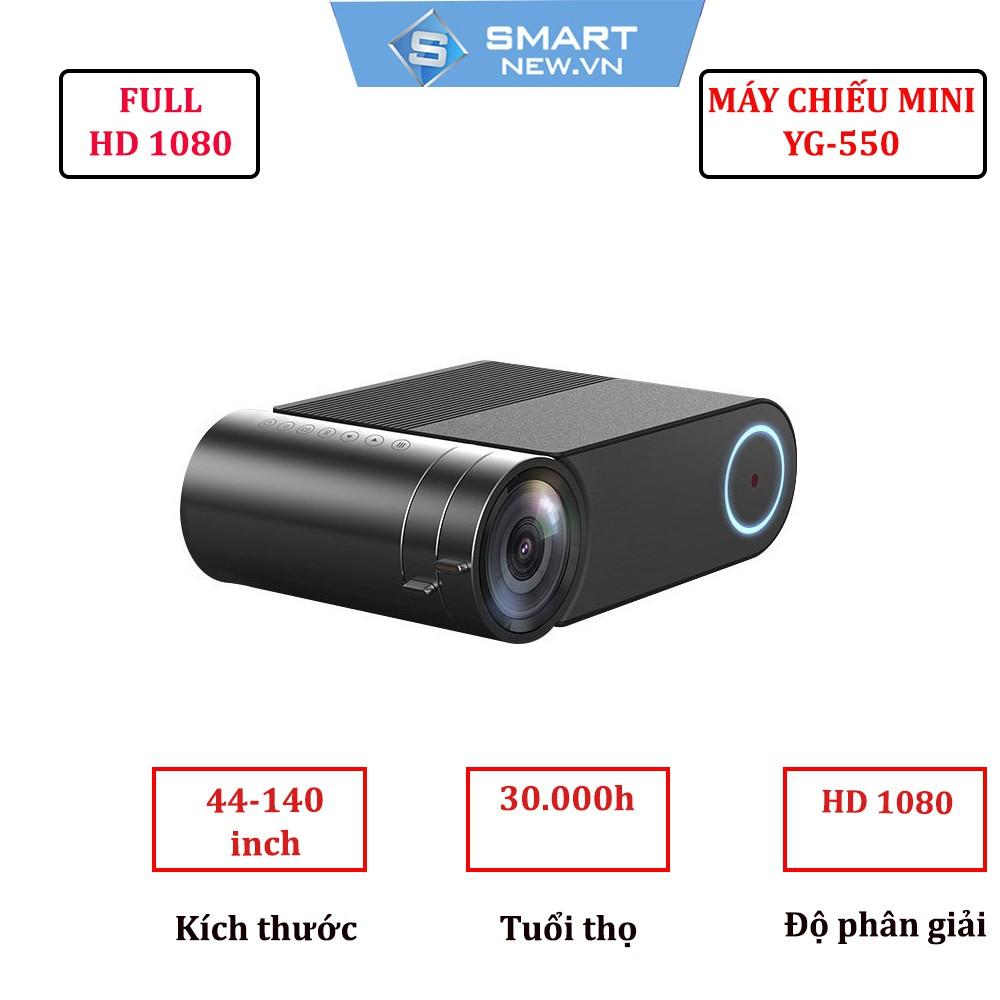 [Mã ELCLXU8 hoàn 8% xu đơn 500K] Máy chiếu mini YG550-Full HD 1080-Máy chiếu mini tốt nhất 2019