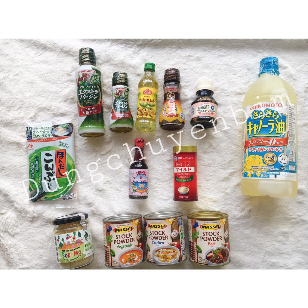 [tổng hợp] Các loại hạt nêm, dầu ăn cho bé ăn dặm 6m+