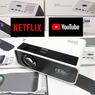 Máy chiếu mini AUN HD C90 - Độ phân giải thực chuẩn HD - Kết nối điện thoại, laptop - Công suất 90w- độ sáng cao