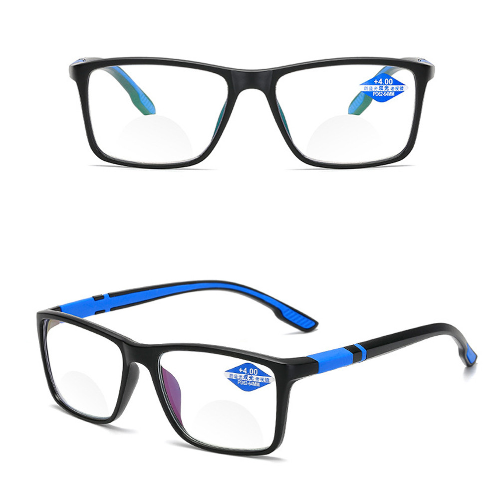 💍MELODG💍 Women Men Reading Glasses Vintage Progressive Multifocal Lens Anti-Blue Light Eyeglasses Portable Fashion Comfortable Eye Protection Ultra Light Frame/Multicolor