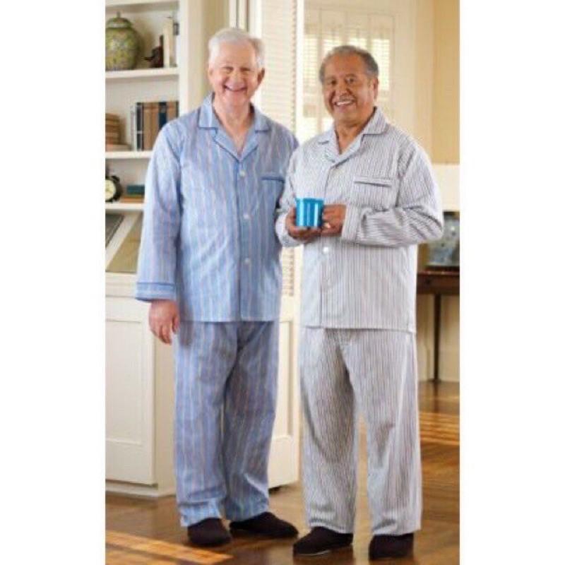 Mặc gì đẹp: Bộ Kẻ Ông Già, Bộ Pijama Nam Trung Niên, Người Già Vải Kate Hàng Đẹp