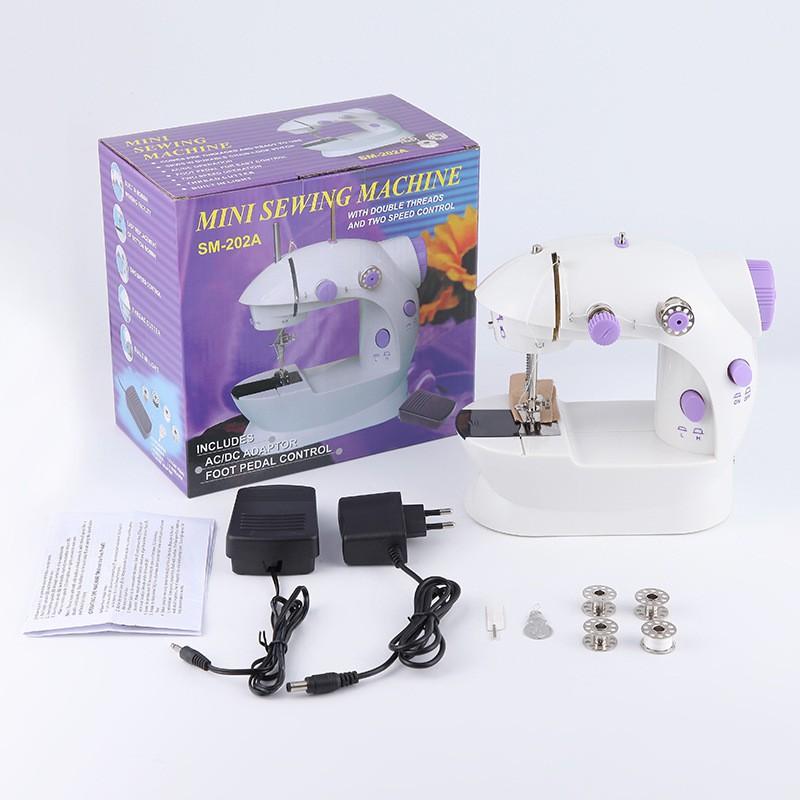 Máy khâu mini CMD tiện ích có đèn led hỗ trợ may vá, máy may mini Fasola