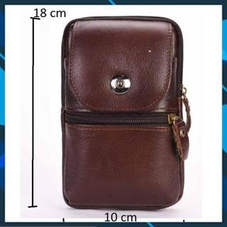 Túi đeo hông da thật đựng điện thoại cao cấp Thành Long 8262 TU