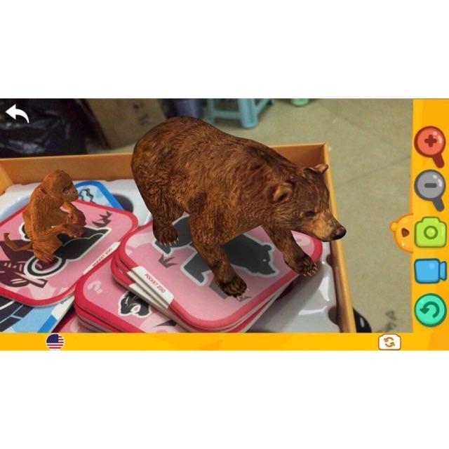 BỘ THẺ ĐỘNG VẬT 4D NEO BEAR GẦN 100 CON VẬT SINH ĐỘNG 4