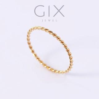 Nhẫn ngón út đai xoắn bạc mạ vàng thời trang Gix Jewel N63 thumbnail