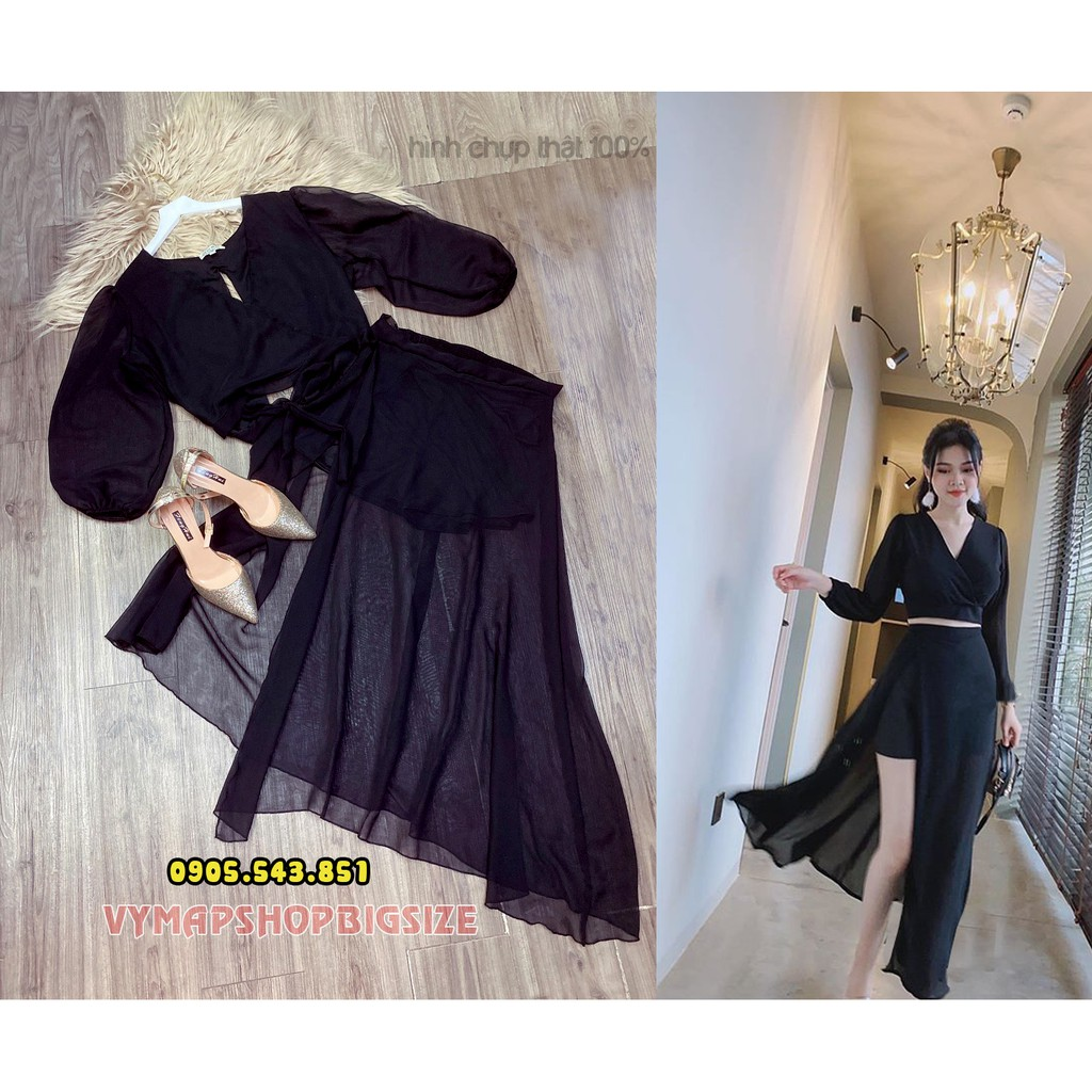 đầm xẻ áo/váy rời bigsize 60-100kg( 2 size)
