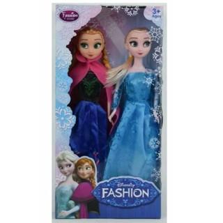 Bộ 2 công chúa búp bê Anna và Elsa đáng yêu cho bé gái thumbnail