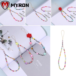MYRON Hanging Cord Strap Lanyard Women Mobile Phone Rope Mobile Phone Chain Anti-lost New Colorful Decoration|Beads Chain