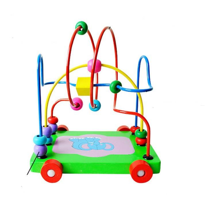 Xe kéo hạt mê cung - Đồ chơi giáo dục
