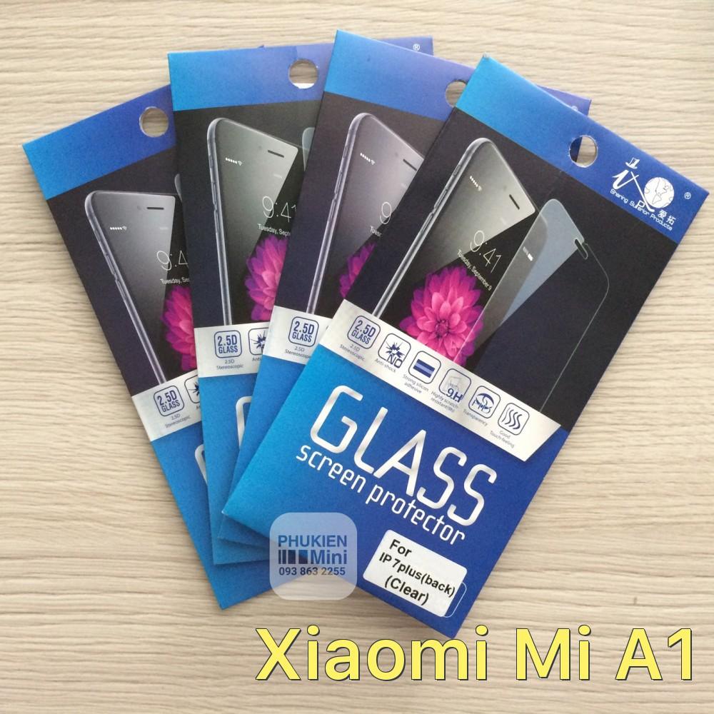 Dán cường lực 9H/2.5D cho Xiaomi Mi A1