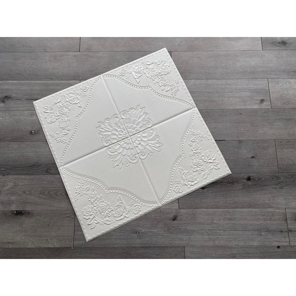 Xốp dán tường 3D cổ điển vân hoa hồng 4 cạnh- Cực đẹp cực độc đáo - Loại 1